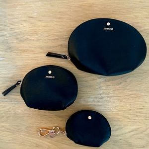 Mimco nesting cosmetic pouches